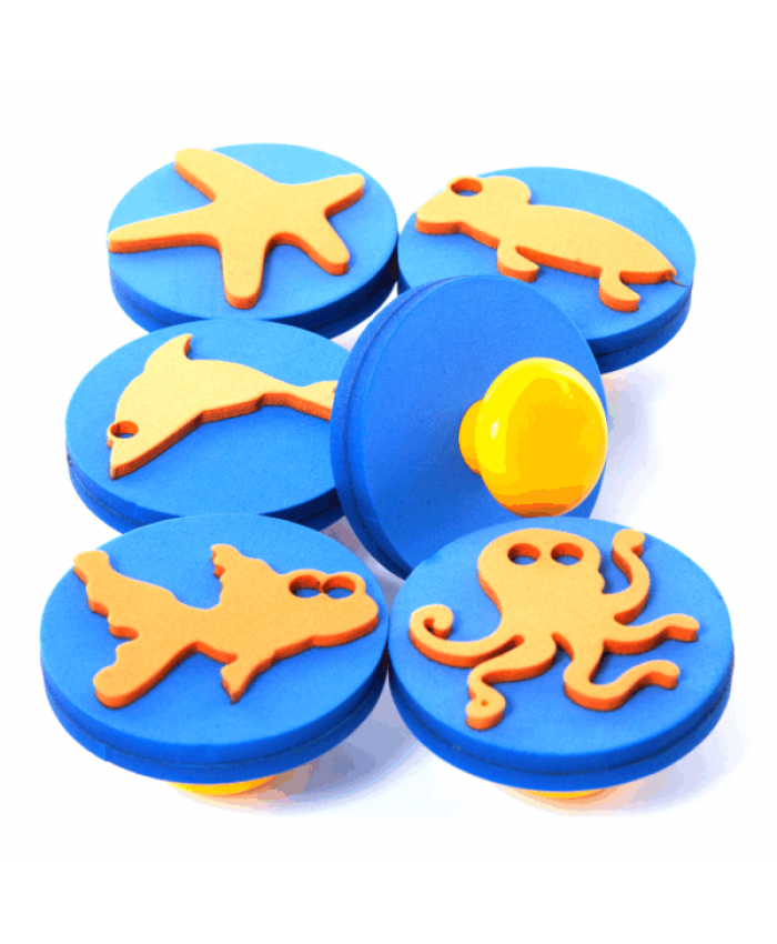 Knob Stamps - Sea Life - Pack of 6