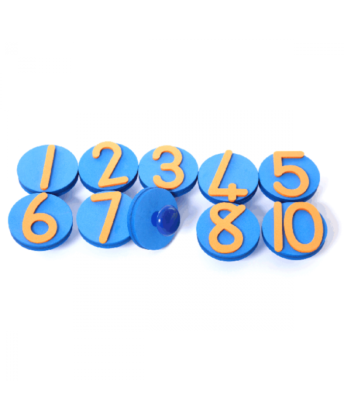 Knob Stamps - Numbers - Pack of 10